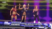 Smackdown Michelle McCool & The Bella Twins vs Maryse,Victoria & Natalya  11-28-08