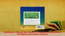 PDF  Getting to Know the Worlds Greatest Composers Wolfgang Amadeus Mozart Ebook