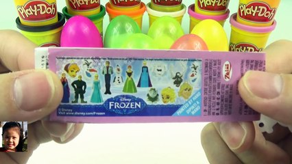 DISNEY FROZEN SURPRISE EGGS !!! Play doh Kinder DISNEY FROZEN español Elsa Anna Olaf Pi TV