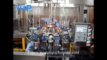 Automatic small sparkling wine, water glass washing filling capping and packing machine linear type