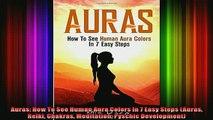 Read  Auras How To See Human Aura Colors In 7 Easy Steps Auras Reiki Chakras Meditation  Full EBook
