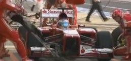 Fernando Alonso record du monde de pit stop en 1,95 secondes