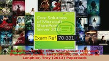 PDF  Exam Ref 70331 Core Solutions of Microsoft SharePoint Server 2013 MCSE 1st edition by Download Full Ebook