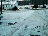 Snowskate Varial Kickflip