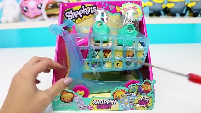 Shopkins Shopping Cart with EXCLUSIVE Shopkins and ALL 4 Seasons Blind Baskets & Blind Bags!