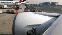 Emirates   Boeing 777-300ER   Pushback, Engine Start & Take Off at Dubai Airport   HD