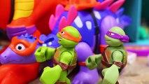 Teenage Mutant Ninja Turtles Metalhead Builds Robo Raptor Eating Pizza with T-Rex Dinosaur Pet