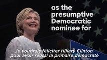 Le soutien d'Obama à Hillary Clinton