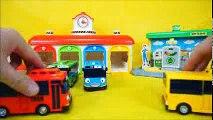 꼬마버스타요 장난감 똑똑한 타요 중앙차고지 주유소 세차장 장난감 놀이 Tayo the little bus car toys Тайо Игрушки