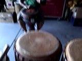 Nicole D. Ford (Las Vegas) - Drums: Rehearsal w Leon Mobley (Djembe W. African Drum&Dance DWADD) pt1