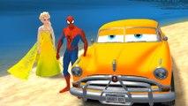 SPIDERMAN & FROZEN Elsa The Snow Queen jouer w / Hudson Disney CARS + Chansons pour enfants Comptines