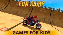 TRUCKS amusant pour les enfants avec IRON MAN & SPIDERMAN CARTOON CARS Comptines pour les enfants