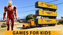 SPIDERMAN et IRON MAN FUN TIME! Superhero Voitures Cartoon pour les enfants et les enfants Comptines Chansons