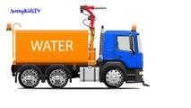Camions pour les enfants. Water Truck. Oeufs en chocolat. Apprenez couleurs. Cartoon pour les enfants.