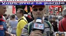 Télévision-Bordeaux-33 la Manif de Jeudi 9 Juin le slogan on ne lâche rien plus de 20 milles dans Bordeaux