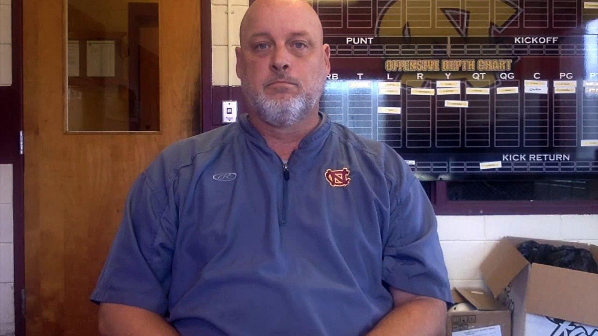 Natchitoches Central Head Football Coach Brandon Helms - Nov. 9, 2015