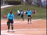 1999 may 22 ashley softball ash slides home lindsay parker pitching