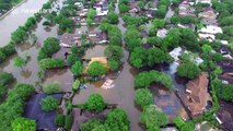 Drone footage shows scale of Houston flooding