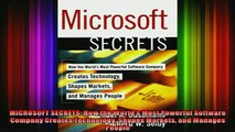 READ FREE Ebooks  MICROSOFT SECRETS How the Worlds Most Powerful Software Company Creates Technology Full Free