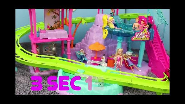 Polly Pocket Roller Coaster Ride Frozen Elsa Anna Merida Hans Barbie Toys DisneyCarToys - MertaCeyon