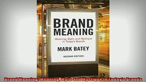 READ book  Brand Meaning Meaning Myth and Mystique in Todays Brands READ ONLINE