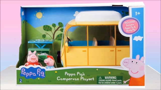 Miss Katy Show Свинка Пеппа  распаковка  игрушки Peppa Pig Family Campervan