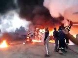 حرق 6 همرات في الكرمة - الفلوجة,الانبار_ العراق 1/1/2014