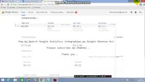 How to Search Google Analytics integration on Google Adsense Account