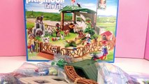 : Construction de lenclos des chèvres et des lapins du zoo Playmobil   Bricoler et jouer
