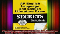 READ book  AP English Language and English Literature Exam Secrets Study Guide AP Test Review for Full Free