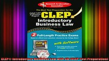 READ book  CLEP Introductory Business Law with CD CLEP Test Preparation Full EBook