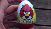 2 Angry Birds Surprise Eggs Unwrapping - Angry Birds Surprise Egg - Kinder Surprise Egg Part 1