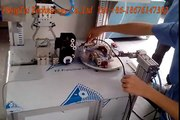 Automatic wire winding and bundling machine for electronics household appliances