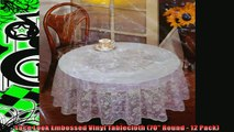 special produk Lace Look Embossed Vinyl Tablecloth 70 Round  12 Pack