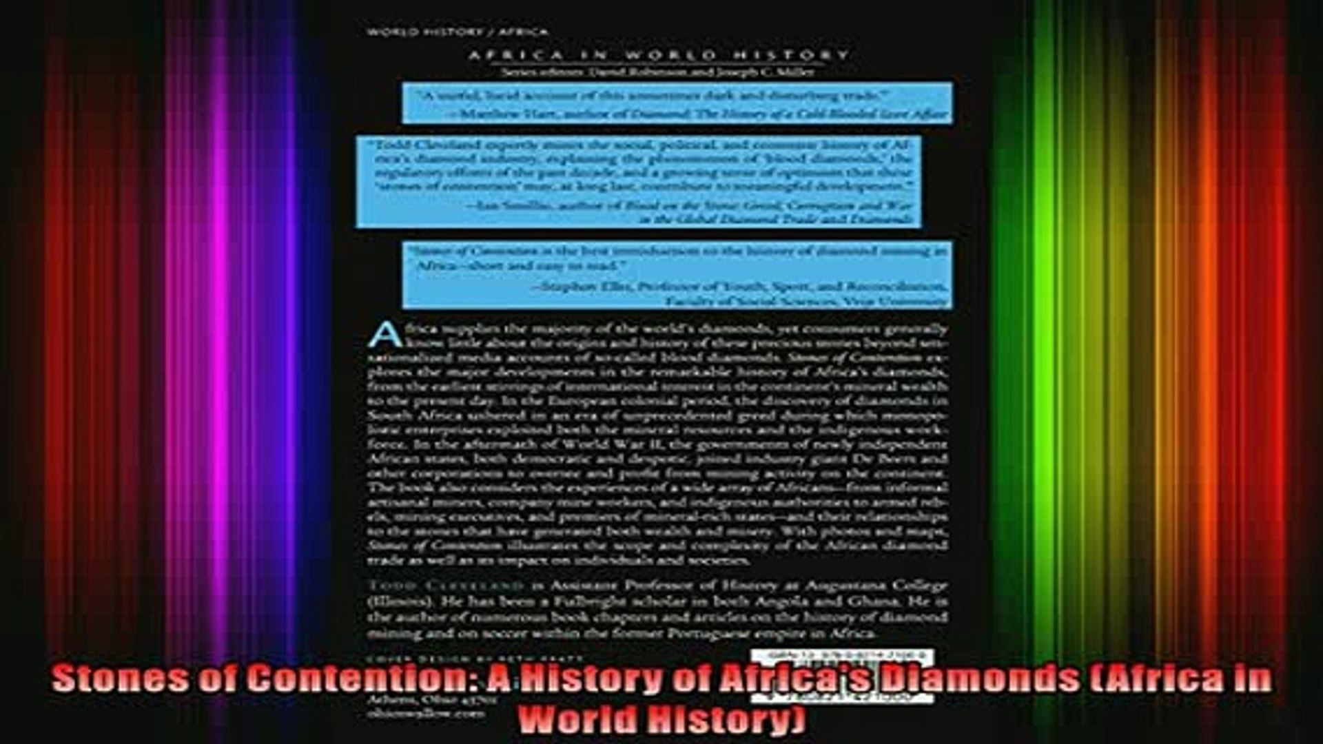 Full Free PDF Downlaod  Stones of Contention A History of Africas Diamonds Africa in World History F