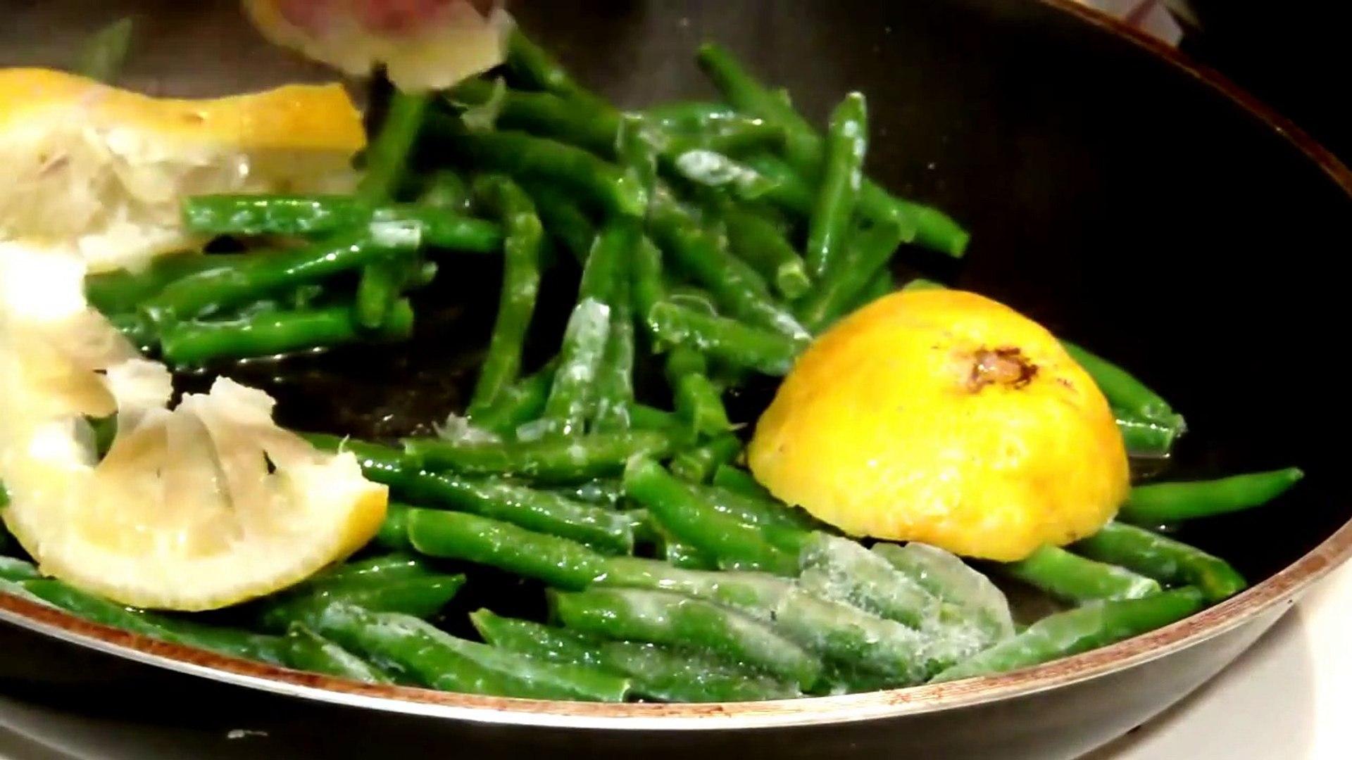 Healthy And Quick Dinner Recipe | Garlic Lemon Shrimp And Green Beans Recipe | Lemon Recipe