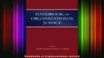 READ Ebooks FREE  Handbook of Organizational Justice Full Free