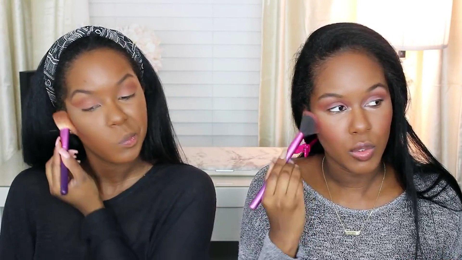 No Mirror Makeup Challenge - Glamtwinz334