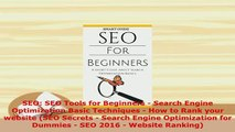 PDF  SEO SEO Tools for Beginners  Search Engine Optimization Basic Techniques  How to Rank Free Books