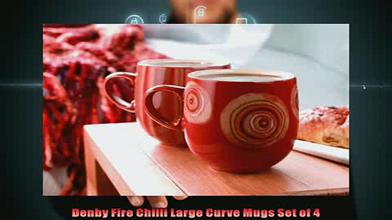 buy now  Denby Fire Chilli Large Curve Mugs Set of 4