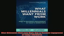 READ FREE Ebooks  What Millennials Want from Work How to Maximize Engagement in Todays Workforce Online Free