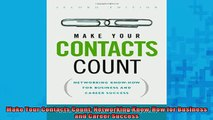 READ book  Make Your Contacts Count Networking KnowHow for Business and Career Success Full Free