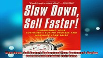 FREE PDF  Slow Down Sell Faster Understand Your Customers Buying Process and Maximize Your Sales  DOWNLOAD ONLINE