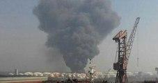 Çin'de Kimyasal Tesiste Büyük Patlama! Alev Alev Yanıyor