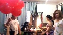 Bougie d'anniversaire + Ballons à l'hélium
