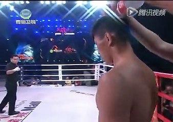 20160422 武林风 孟庆浩VS大塚旭树:最帅武警KO日本选手 对手瘫倒在地