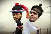 Shahid Afridi beating Umar Akmal and Ahmad Shehzad with Bat
