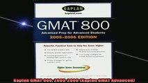 READ book  Kaplan GMAT 800 20052006 Kaplan GMAT Advanced Full EBook