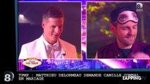 TPMP : Matthieu Delormeau demande Camille Combal en mariage (vidéo)