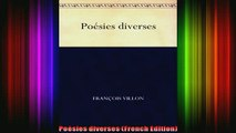 READ FREE FULL EBOOK DOWNLOAD  Poésies diverses French Edition Full EBook
